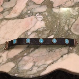 Juicy Couture Jewelry - Juicy Couture black and turquoise bracelet
